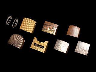 Five Fuchi-Gashira Sets, Seven Habaki and One Set of Shitodome