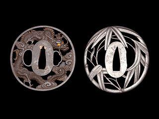 Two Iron Tsuba