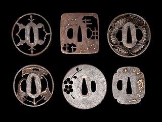 Six Iron Tsuba