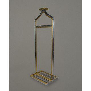 Perchero en latón y metal plateado / Brass and silver plate coat rack