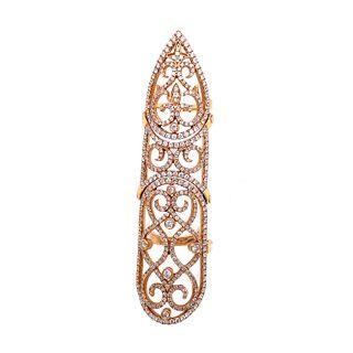 18k Finger Joint Diamond Ring