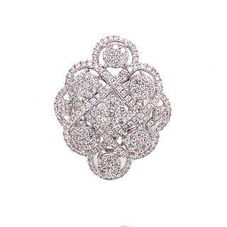 18k Diamond Waffle Ring