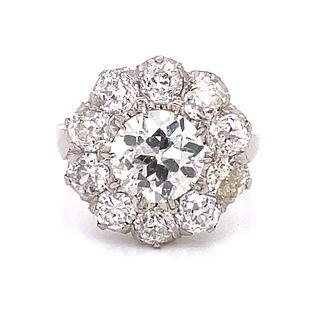 Platinum Diamond Rosetta Ring