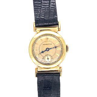 14k Gold Filled Hamilton Deco Watch