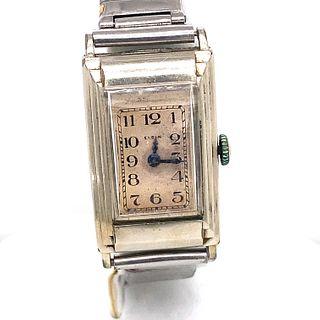 ELGIN Stainless Steele Art Deco Watch