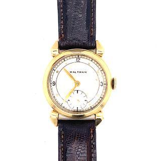 1940s 14k Waltham Art Deco Watch
