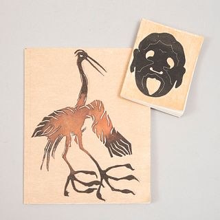 FRANCISCO TOLEDO para Amigos del Taller Arte Papel Oaxaca A.C. Lote de 2 Cuadernos artesanales. Con etiueta. En papel artesanal.