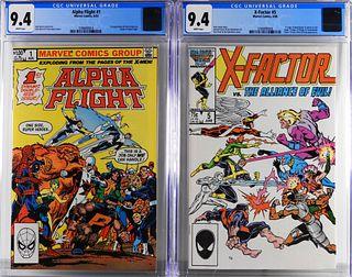 Marvel Comics Alpha Flight #1 X-Factor #5 CGC 9.4