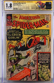 Marvel Amazing Spider-Man #14 CGC 1.8 Sgd Stan Lee