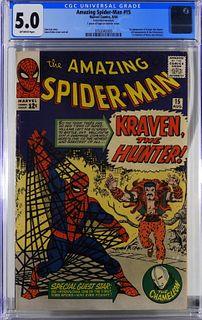 Marvel Comics Amazing Spider-Man #15 CGC 5.0