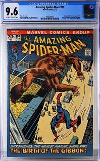 Marvel Comics Amazing Spider-Man #110 CGC 9.6