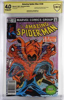 Amazing Spider-Man #238 CBCS 4.0 News. Sgd Romita