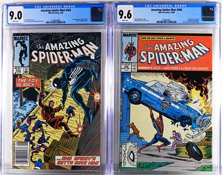 2PC Marvel Comics Amazing Spider-Man #265 #306 CGC