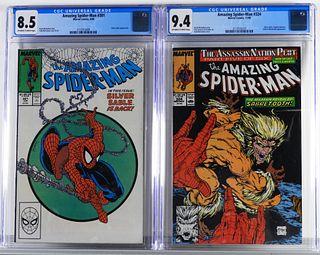 2PC Marvel Comics Amazing Spider-Man #301 #324