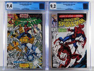 Marvel Comics Amazing Spider-Man #360 #361 CGC 9.4