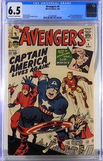 Marvel Comics Avengers #4 CGC 6.5