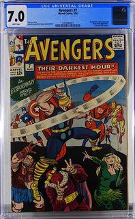 Marvel Comics Avengers #7 CGC 7.0