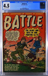 Atlas Comics Battle #3 CGC 4.5