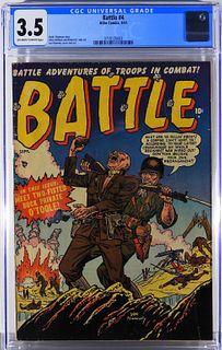 Atlas Comics Battle #4 CGC 3.5