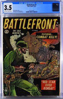 Atlas Comics Battlefront #7 CGC 3.5