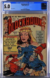 Quality Comics Blackhawk #37 CGC 5.0