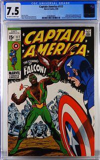 Marvel Comics Captain America #117 CGC 7.5