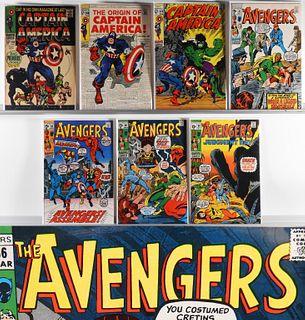 7 Marvel Captain America #100-#110 Avengers #81-90