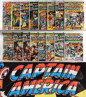 135PC Marvel Comics Captain America #136-#436 & KS