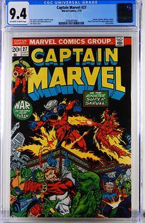 Marvel Comics Captain Marvel #27 CGC 9.4