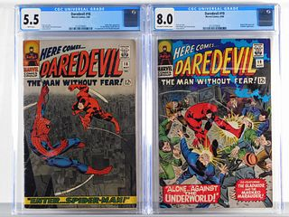 2PC Marvel Comics Daredevil #16 #19 CGC 5.5 8.0