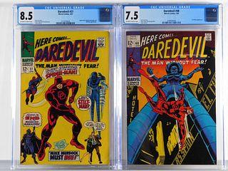 2PC Marvel Comics Daredevil #27 #48 CGC 8.5 7.5