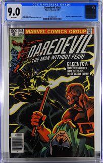 Marvel Comics Daredevil #168 CGC 9.0