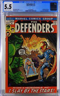 Marvel Comics Defenders #1 CGC 5.5