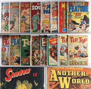 28 Fiction House ACG Fawcett Golden Age Comic Lot