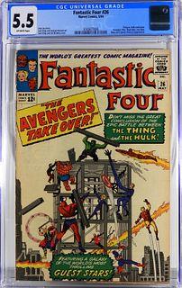 Marvel Comics Fantastic Four #26 CGC 5.5