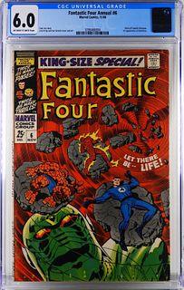 Marvel Comics Fantastic Four Annual #6 CGC 6.0