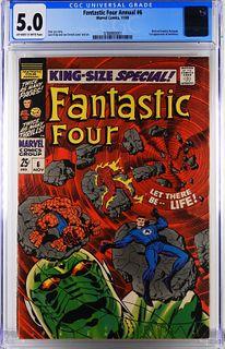 Marvel Comics Fantastic Four Annual #6 CGC 5.0