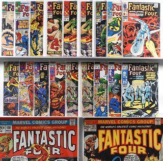 26PC Marvel Comics Fantastic Four #56-#134 & KS #4