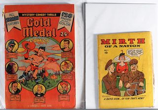 2PC Gold Medal Comics & Mirth of a Nation #1 Group