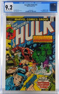 Marvel Comics Incredible Hulk #172 CGC 9.2