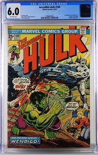 Marvel Comics Incredible Hulk #180 CGC 6.0