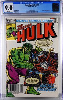 Marvel Comics Incredible Hulk #271 CGC 9.0