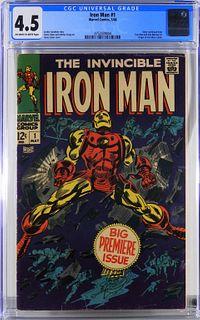 Marvel Comics Iron Man #1 CGC 4.5