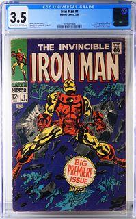 Marvel Comics Iron Man #1 CGC 3.5