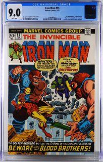 Marvel Comics Iron Man #55 CGC 9.0