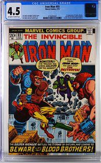Marvel Comics Iron Man #55 CGC 4.5