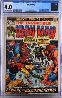 Marvel Comics Iron Man #55 CGC 4.0