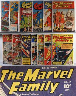 13 Fawcett Pub. Captain Marvel Marvel Family Group