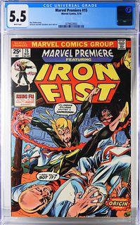 Marvel Comics Marvel Premiere #15 CGC 5.5