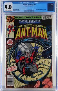 Marvel Comics Marvel Premiere #47 CGC 9.0